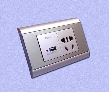 插座开关铝面板